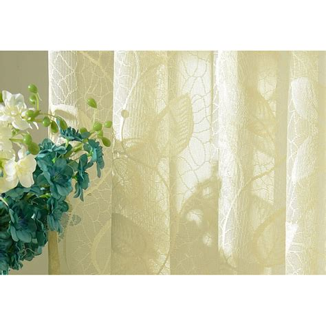 leaf pattern lace curtains beautiful leaf pattern embroidery lace beige sheer curtains