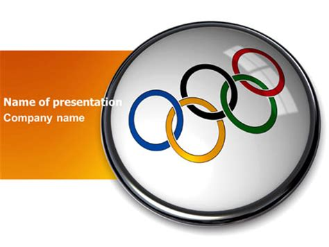 Olympic Symbol Presentation Template For Powerpoint And Olympic Ppt