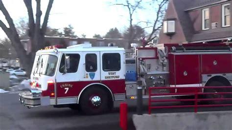 hartford fire department west hartford fire department spare engine 7 responding