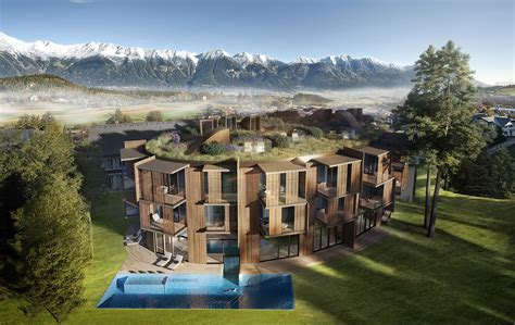 alpine architecture an alpine meadow sprouts on the roof of this austrian
