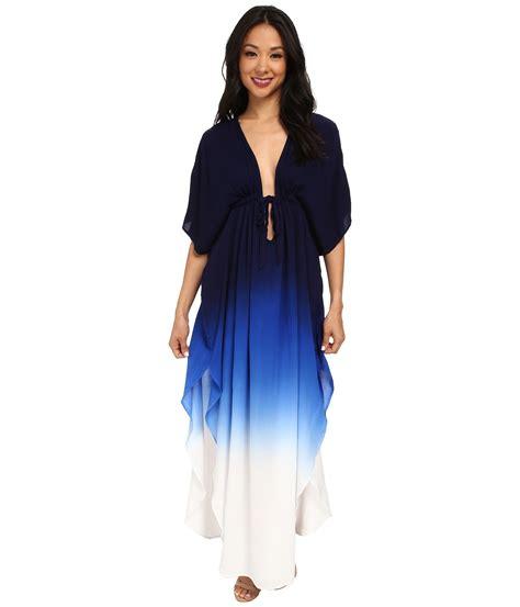 fabulous julie dress in blue navy blue ombre lyst