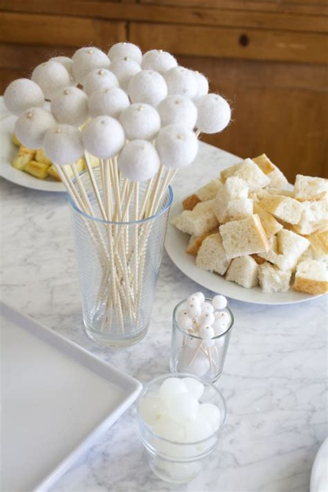 throw  winter white gingerbread decorating party