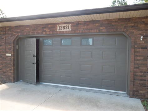 Classic Raised Panel Walkthru Garage Door Walk Thru Garage Door