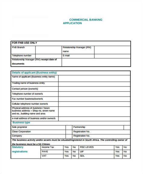 fnb business plan template fnb business plan template 28 images 7 bank statement