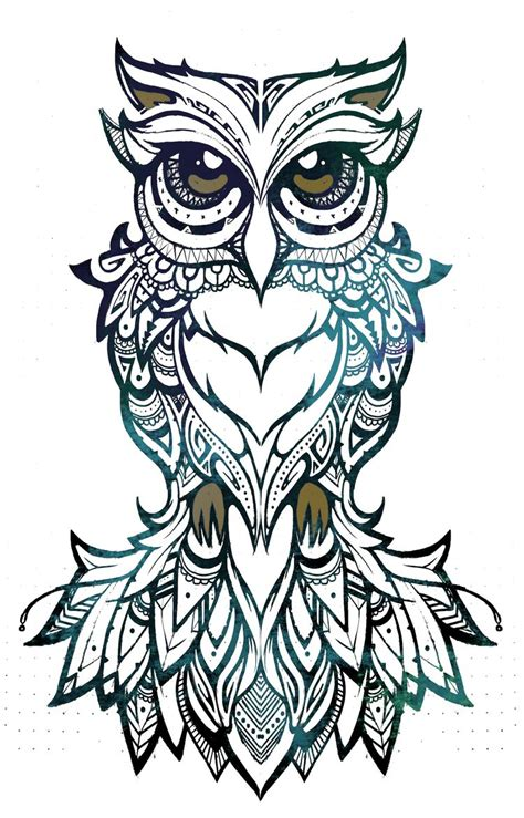 coco art amp design owl illustration tribal patterns