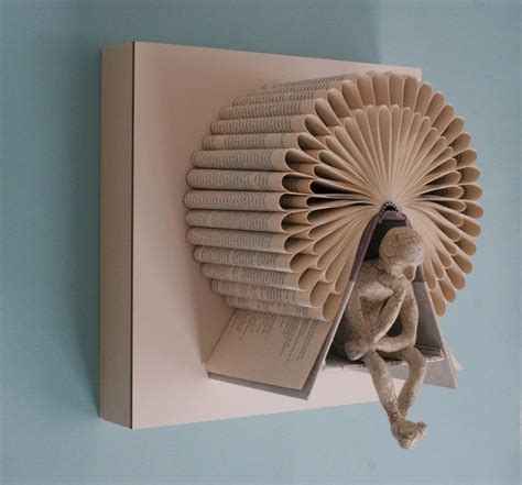 Folded Paper Sculpture - the thinking s book sculptures my modern met