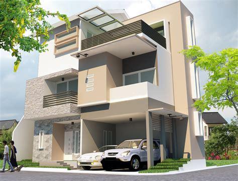 jasa desain tak depan rumah rumah minimalis 3 lantai tipe 150 model 1 jasa desain