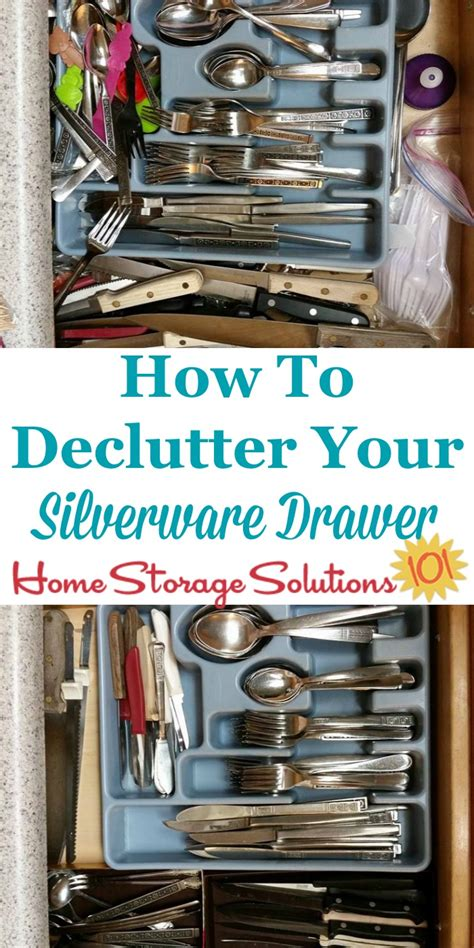 home storage solutions 101 how to declutter organize silverware drawer