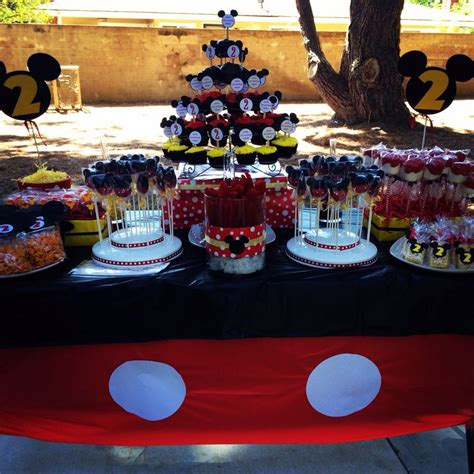 Mickey Mouse Table Decorations by Mickey Mouse Treat Table Isaac S Future Birthday