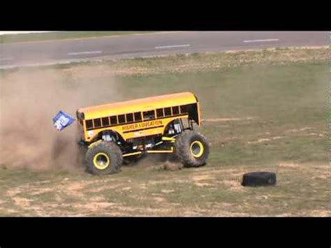 monster truck bus videos higher education cool bus freestyle monster truck races