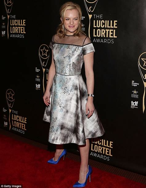 Elisabeth Moss stuns in silver as she dons midi dress at NYC awards gala   Daily Mail Online