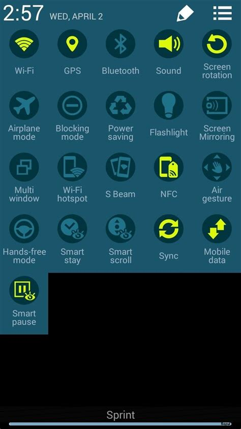 samsung galaxy s5 how to use quick settings panel in how to get the s5 s new rounded quick settings toggles on
