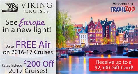 Viking Cruise Gift Card - viking river cruises with up to free air and more luxury link