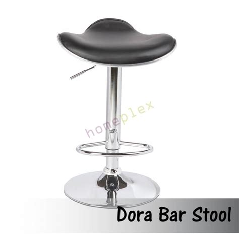 Black Gas Lift Bar Stool by Set Of 2 Pu Leather Chrome Base Gas Lift Black Bar Stool