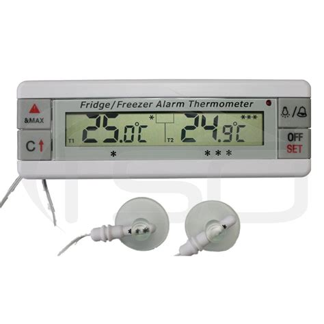 Termometer Freezer fridge and freezer thermometer with dual sensors and alarm