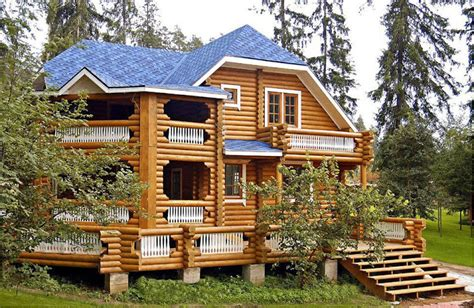 Small Log Cabin House Plans by Preciosas Im 225 Genes De Casas Y Caba 241 As Bloggergifs