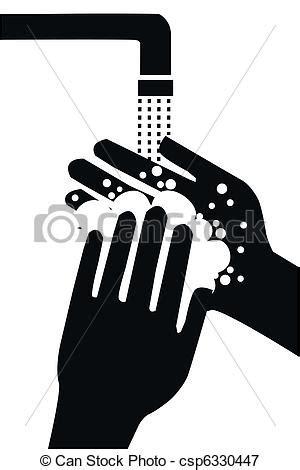 imagenes blanco y negro manos vektoren illustration von waschen dein h 228 nde csp6330447
