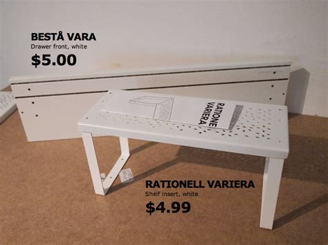 low budget table top shelf cable solution ikea hackers