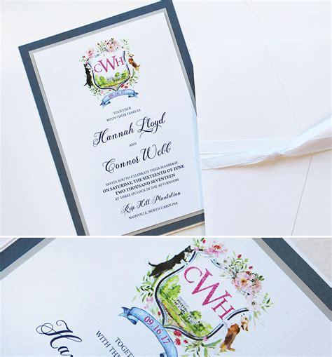 Crest Wedding Invitations