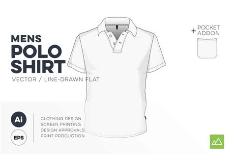 Mens Polo Shirt Template Vector Pack Threadosaurus Com Polo Shirt Design Template