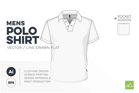 Mens Polo Shirt Template Vector Pack Threadosaurus Com Polo Shirt Template