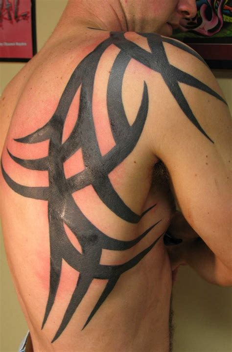 love tattoo for men tribal back shoulder for