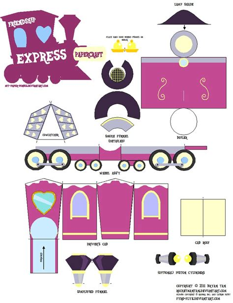 Paper Crafts Pdf - friendship express papercraft by rocketmantan on deviantart