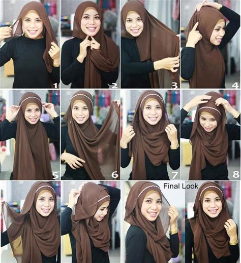 hijab fashion step by step 30 hijab styles step by step style arena