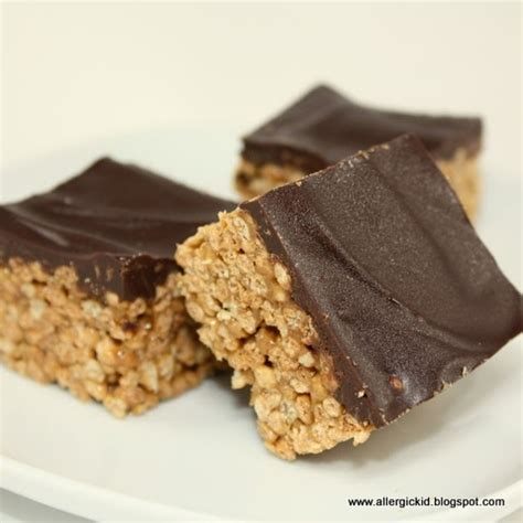 rice crispy bars with chocolate on top the allergic kid chocolate covered crunchy rice squares