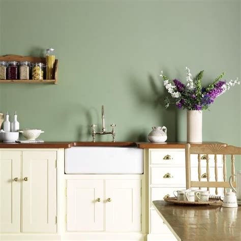 green kitchen walls it s a small world but i wouldn t want to have to paint