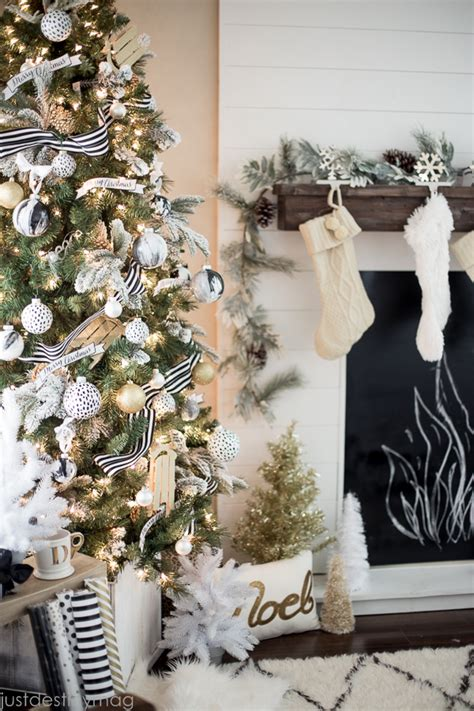 black and white christmas table decorations gold decor ideas