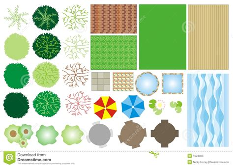 Landscape Architecture Icons Garden Design Icons Stock Images Image 1024384