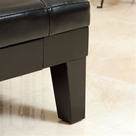 black storage ottoman coffee table tucson black leather storage ottoman coffee table gdf studio