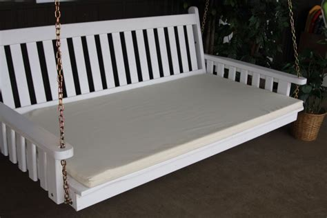 swing bed for sale swingbed cushion 75 4 inch thick 187 amish woodwork