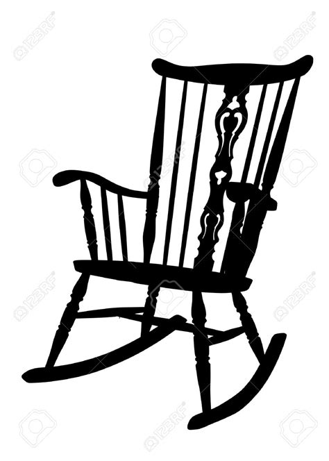 Black And White Rocking Chair by Rocking Chair Clipart 73