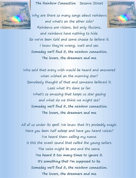 Printable Lyrics For Rainbow Connection | pocket perspectives shifting views on life page 9