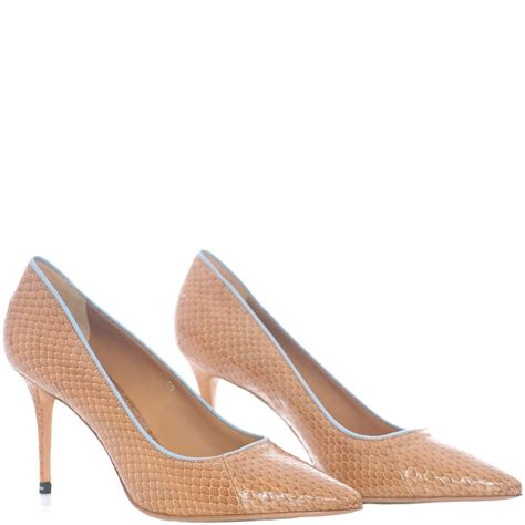 acne studios andrea snake neutral pointed heel