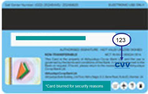 where can i find rupay debit card cvv number