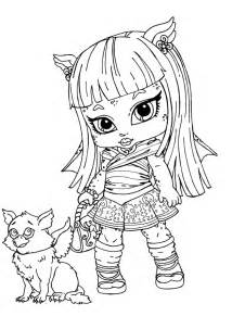 monster high babies coloring pages az coloring pages