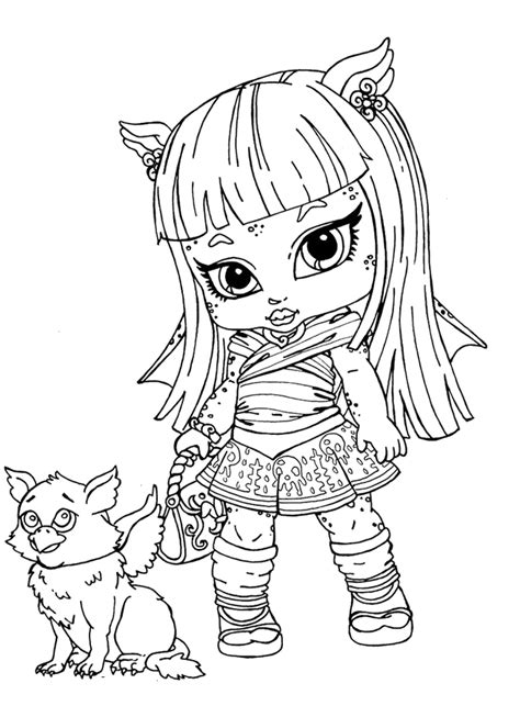 free coloring pages of monster high baby