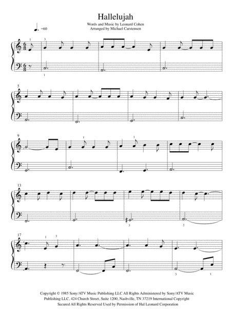 keyboard tutorial hallelujah download hallelujah piano tutorial easy sheet music by