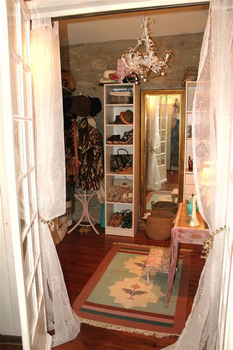 Chic Closets bohemian shabby chic walk in closet closet space