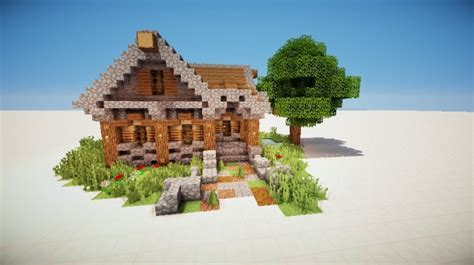 wood cabin minecraft project