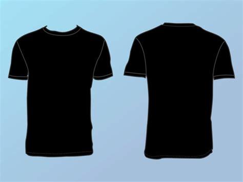 黑色t恤的正面和背面 下载免费矢量