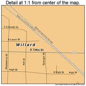 Willard Ohio Map by Willard Ohio Street Map 3985232