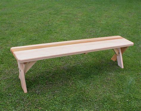 cross leg bench red cedar cross legged bench