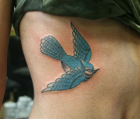 blue jay tattoo blue