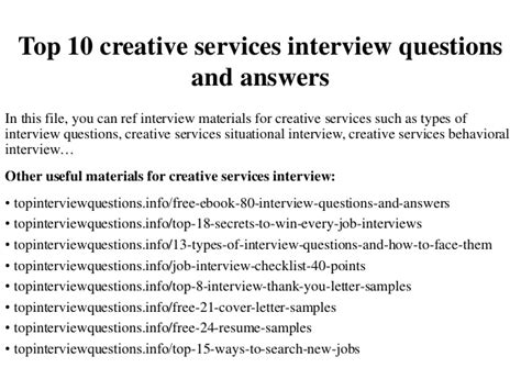 Hvac Service Agreement Template top 10 creative services interview questions and answers