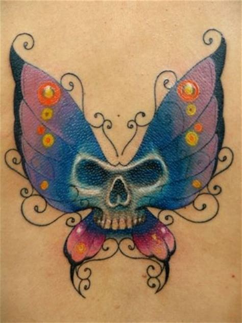 skull butterfly tattoos colorful butterfly butterfly tattoos and