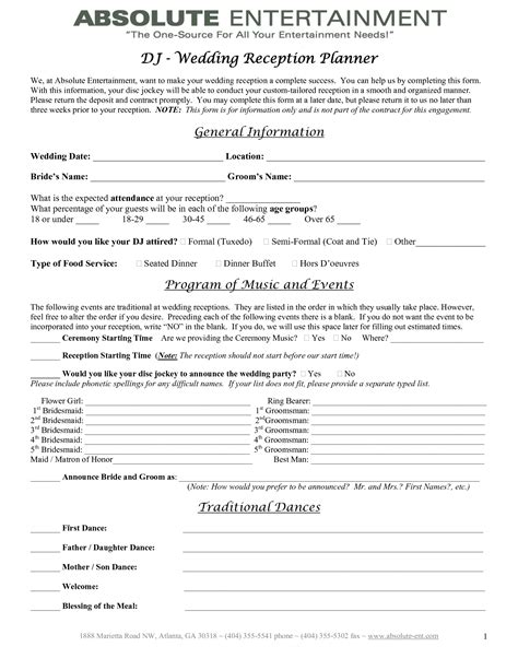 wedding planner contract template 7 best images of printable wedding planner contract